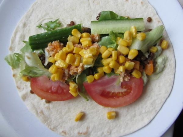 IMG 5480  Tortillas mit verschiedenen Dips
